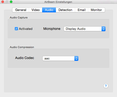 Audio preferences