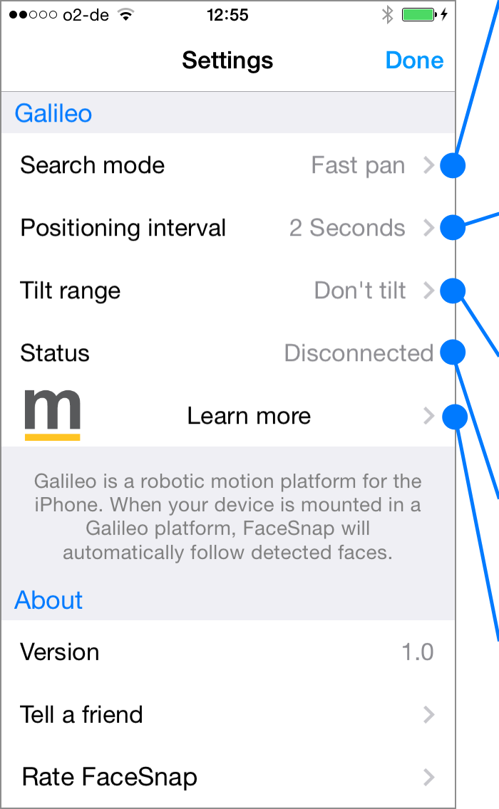 Galileo settings